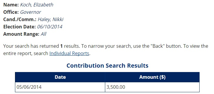 nikki haley koch public sector donations 5