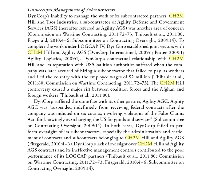 About ch2m but controversy concerning ch2m goes back several years